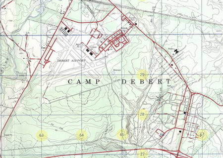 Camp Debert Map